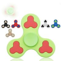 6 colores Dull pulido polaco mano Spinner dedos en espiral dedos Gyro Torqbar Fidget Spinner Fidgets juguetes de descompresión Juguetes CCA5942 200pcs
