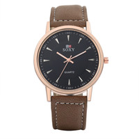 Mens Boys Luxury Watches Quartz Watches Clock Wristwatch Lea...