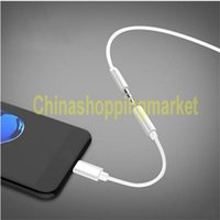 Pour iPhone 7 Convertisseur Adaptateur Convertisseur pour i7 Plus Connecteur AUX Câble d'éclairage à Femelle 3,5 mm Jack avec Opp Bag