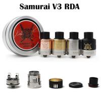 Самурай V3 RDA Форсунка Самурай Комп V3 Peek Изоляторы Регулируемый воздушный поток Fit 510 E сигареты высокого качества