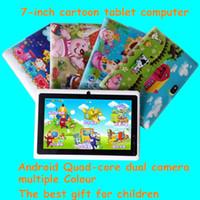 7 pouces Tablet PC enfants dessin animé A33 Andrews quad-core 8G double caméra Bluetooth WIFI Tablet PC gros cadeau de vacances pour enfants