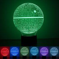 Star Wars Death 3D illusion Night light LED 7 color change d...