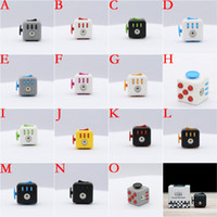 BEST 15 colors New wholesale novelty Fidget Cube stress reli...