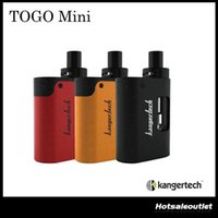 Authentique Kanger TOGO Mini 2.0 / 4.0 Starter Kit 1.9ml /3.8 ml Capacité 1600mah / 1700 mah Tout Ine One avec CLOCC Tête de bobine 100% Original