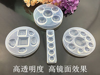 4Styles popular Crystal Glue Round Cabochon Moulds high tran...