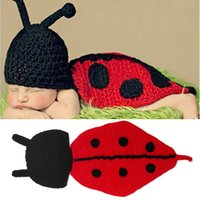 Newborn Crochet Photography Props Baby Ladybug Hat with Cap ...