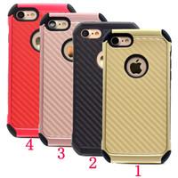 Étui de luxe iphone 7 étui en fibre de carbone pour iphone 5 6 6 plus iphone 7 7 plus boîtier en carbone