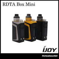 Kit de démarrage iJoy RDTA Mini Miniature authentique avec 6 ml Capacité Batterie Li-Po 2600 mAh intégrée 100% Original