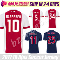 Ajax Jerseys 2018 Ajax FC Soccer Jerseys 2017 Camisa KLAASSEN NOURI DOLBERG YOUNES Jerseys Chemises de football