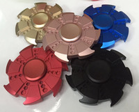 Nouvelle conception 5 couleurs Turbine Handspinner Finger Spinner Rose Turbine Metal Hand Fidget Spinner Stress Relief Décompression Toys DHL