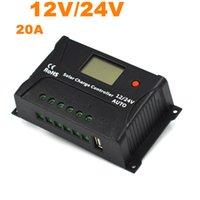 Хорошее качество PWM солнечный контроллер 20A Солнечный регулятор 12V 24V ЖК-дисплей USB 5V солнечной панели зарядки регулятор зарядное устройство