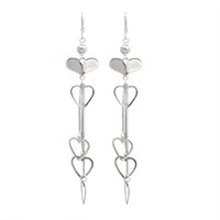2017 Fashion Jewelry New Design Charm 925 Sterling Silver Earring Heart Design Jhumka Earring Designs ES00959