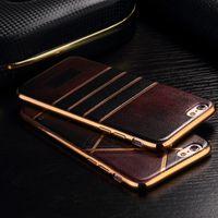 Whosesale Skin Grain Phone Cases Electroplate Soft Back Cove...