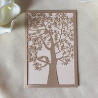 New Wedding Invitations Gold Paper Blank Inner Sheet Laser C...