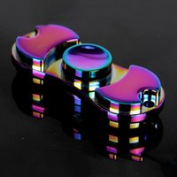Juguetes EDC coloridos mano hilandero Fidget juguetes buena elección para la ansiedad de descompresión Dedo Juguetes color arco iris de aluminio spinner mano