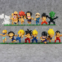 4- 5cm 15pcs set Mini Dragon ball Son Goku Son Gohan PVC Acti...