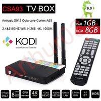 Amlogic S912 Android 7.1 Caixa de TV 3GB 32GB Octa Core CSA93 Stream TVbox Bluetooth 2.4G 5G Wifi KODI 17.0 4K H.265 Media Player VS H96 Pro + X92