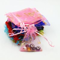 500pcs Butterfly Organza Bags, Drawstring Pouch Favor Bags, ...