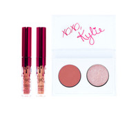 En existencia Kylie Jenner Valentines Collection Regalo Dos Mini Kit + Dos Colores Kyshadow Palette kiss me / sweet heart / smooch Sombra