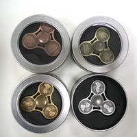 2017 Vintage Cents Coins Hand Finger Spinner Gyro Gag Toys Fidget Spinner Fingers Nouveauté Jouets Metal Zinc Alloy Pk CKF