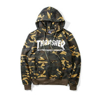 2017 new camo hoody sweatshirt mens trasher hoodies streetwe...