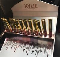 Kylie 12 lápiz labial determinado de la edición limitada del lápiz labial 12pcs fijó la venta caliente del maquillaje líquido labial de los labios de Lipgloss