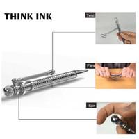Piense la pluma de tinta Fidget pluma Descompresión juguete Ansiedad Autismo y ADHD niños Focus lápiz mano fidget juguetes de la novedad Pluma de estrés de metal magnético