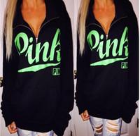 BLACK print Pink Letter Bts Hoodie Women Casual Hip Hop Hood...