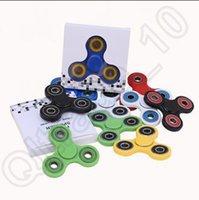 49 diseños en la mano Mano Spinner Fidget Handspinner Fidget Spinner Tri-Spinner Fidget Juguetes Juguete de Relajación Adultos con la caja al por menor CCA5621 60pcs