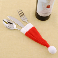 Wholesale- Red Santa Hat Christmas Spoon Tableware Silverwar...
