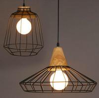 Nouvelles arrivées rétro Loft luminaire vintage vintage lumières Bar Cuisine Décoration pour la maison E27 Edison Light Fixtures Iron Poulie Lampe LLFA