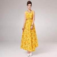 Womens Summer Dresses Summer New Printing In Yards Dress Lei...