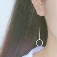 S925 Sterling Silver circular ear wire Do not fade Prevent a...
