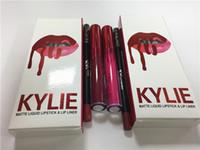 2017 NOUVEAU KYLIE JENNER Comestics KIT LIP Kylie Lèvres VALENTINE / HEAD OVER HEELS Rouge à Lèvres Matte Liquide Maquillage Lip Gloss Maquillage DHL free