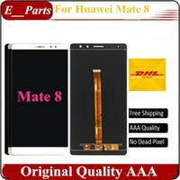 Original AAA grade pour Huawei Mate 8 LCD FHD 6,0 pouces écran LCD tactile écran numériseur assemblage remplacement noir / blanc / or