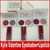 Кайли Новая коллекция Kyshadow Valentines Two Colors тени для век Palette Kylie Jenner Валентина губная помада Подарок главное сжатие и сладкая вещь