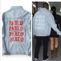 New Pablo Kanye West Denim Jackets Men The Life Of Pablo kan...