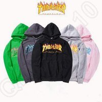 5 цветов Трэшер толстовки Новый скейтборд пуловер Hip Hop руно Hoodie осени и зимы HoodiesCCA5422 10шт