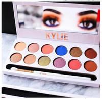 2017 La plus nouvelle palette de maquillage de maquillage de Kylie Palette de cosmétiques d'édition de vacances La palette royale de pêcher Kyshadow Précommande 12colors ombre à paupières