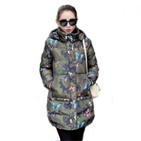 Winter 2016 New Female Medium- Long Hooded Jacket Outerwear C...