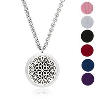 Aroma Jewelry 30mm Perfume Locket 316L Huile essentielle en acier inoxydable Aromatherapy Diffuser Locket Pendant (Send Chain Felt Pad) Start