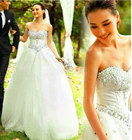 Sweetheart Vintage Cheap Beach Sexy Beading A Line Tulle Plu...