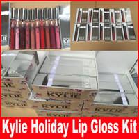 Новая Кайли Косметика для губ Kit Vixen Веселого отдыха Выпуск 1 Matte Lipstick Liquid и 1 Карандаш для Губ серебра пакет ограниченным тиражом