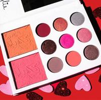 Gama de colores 2017 de la colección de la tarjeta del día de San Valentín de Kyshadow 11color El regalo DHL del día de tarjeta del día de San Valentín de Kylie Jenner libera de faststep
