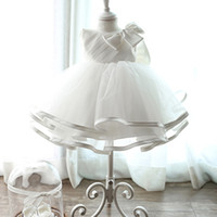 Flower Girl Dresses with big BOW- TIE Multi- Large skirt For G...