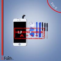Pour Grade A +++ iPhone 6 Blanc écran LCD avec numériseur à écran tactile complet pour 4,6 pouces iPhone 6 outils lcd ouvert