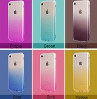 Gradient color Fashion Style Clear TPU Silicone Soft Case Co...