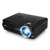 Stocks américains! IRULU P4 Projecteur Projecteurs LED HD 2800 Lumens Luminosité Résolution native 1080P Projecteur de cinéma maison intégré Projecteurs de cinéma maison