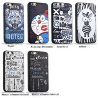 Cases New Cartoon Colorful Embossed Painted Soft TPU Silicon...