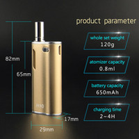 Authentique CBD Vape Pen Vape Box Kit Kit Kits d'huile H10 E Cartouches de cigarette Mini vaporisateur 10w avec batterie 650mah pour cire CE3